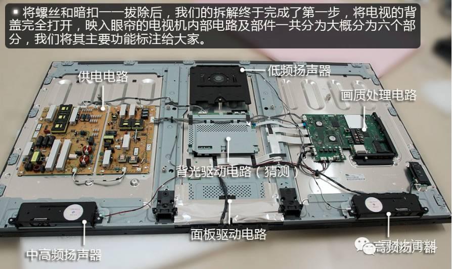 ③  pcb 电路板     ⑤ 结构件   4, 4k 电视厂家  三星,lg,海信
