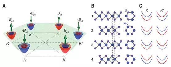 mos2 的能带结构以及自旋轨道耦合共同